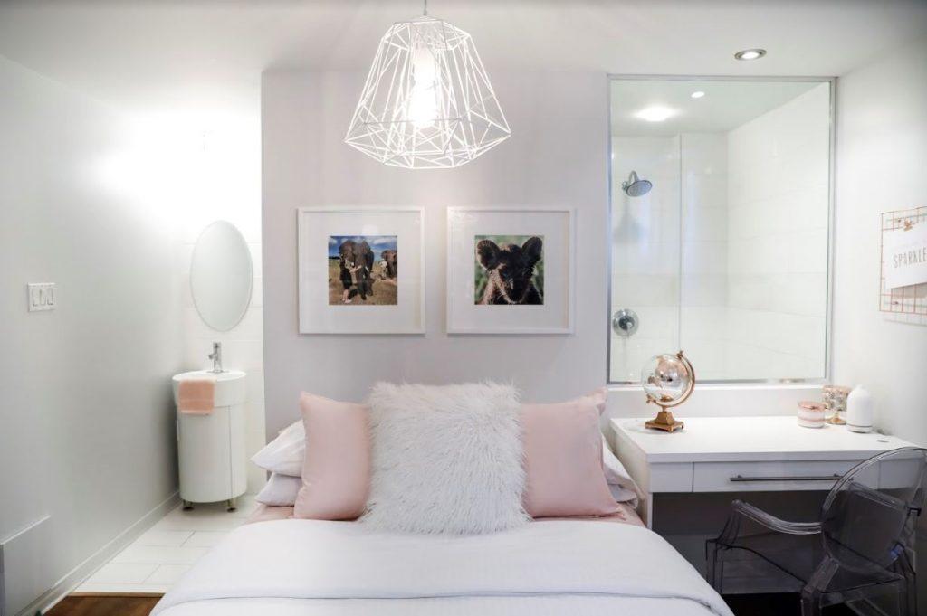 Chambre à coucher style loft