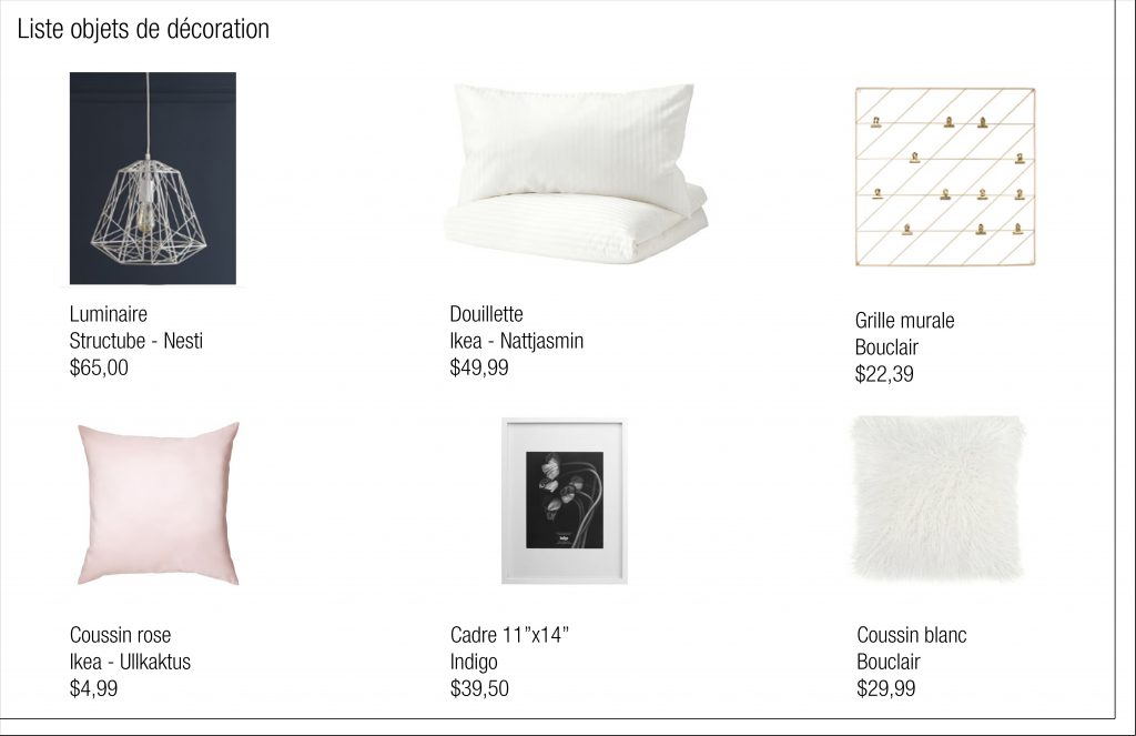 Une proposition de couleurs et d'objets décoratifs