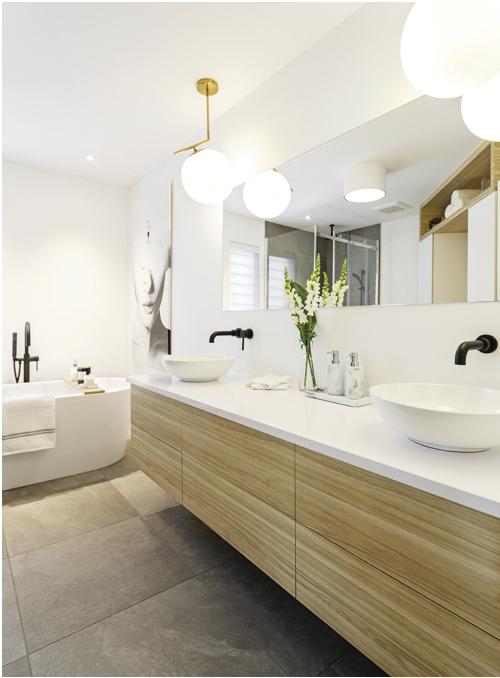 Une salle de bain parfaite pour vous la zone design - Quel couleur pour une salle de bain ...